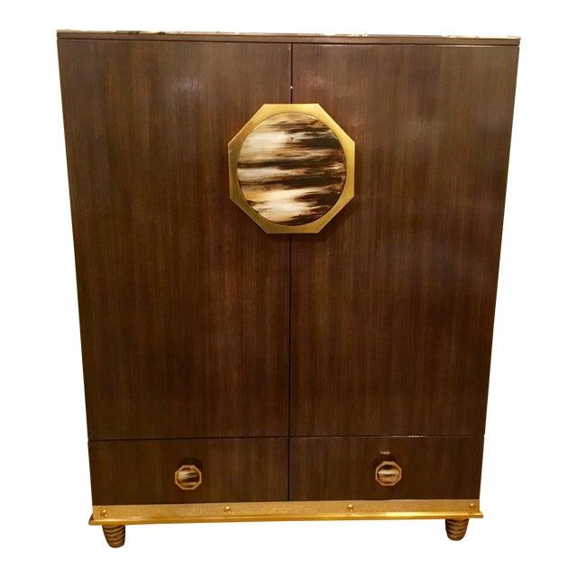 Modern Henredon Bihuber Barclays St. Bar Cabinet For Sale