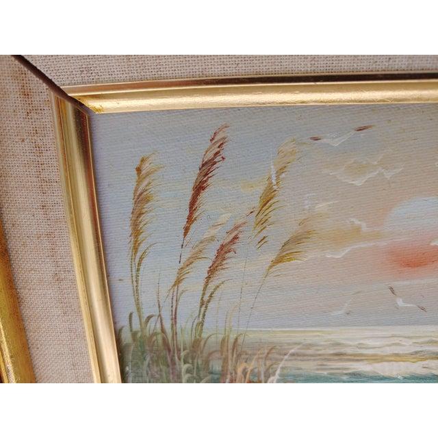 "Coastal ""Birds and Sea"" Vintage Oil Painting by Bernard Duggan For Sale - Image 3 of 8"