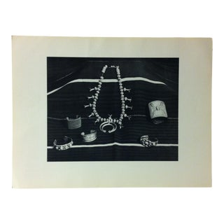 """Circa 1950 """"Southwest Silver Jewelry"""" Indian Arts Fund Collection Print For Sale"""