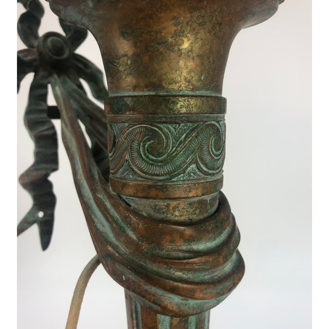 Bronze Sconce Wall Light Antique For Sale - Image 10 of 11