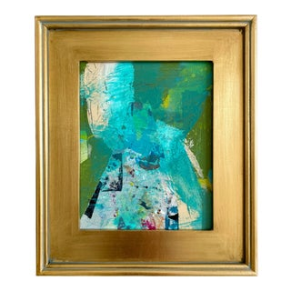 """Jessalin Beutler """"Turquoise Mountain"""" 2021 Framed Painting For Sale"""