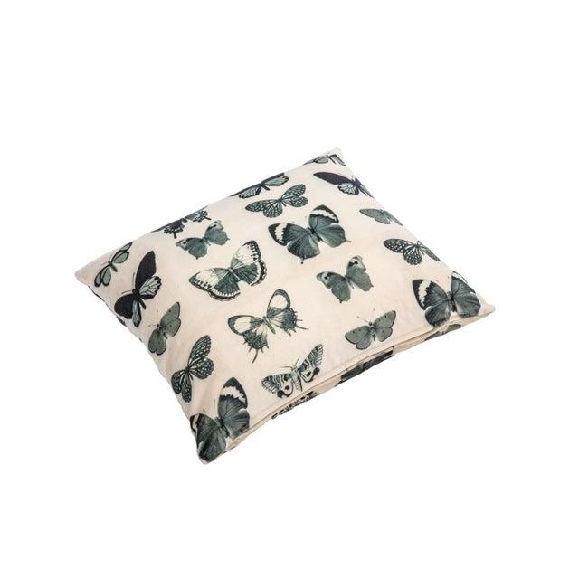 Ivory Velvet Butterfly Pillow - Image 2 of 2