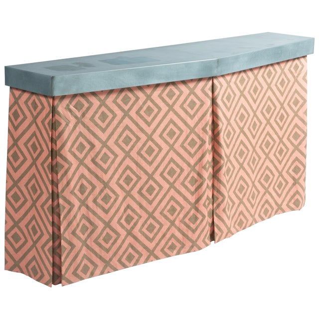 Zinc Top Console Table - Image 1 of 5