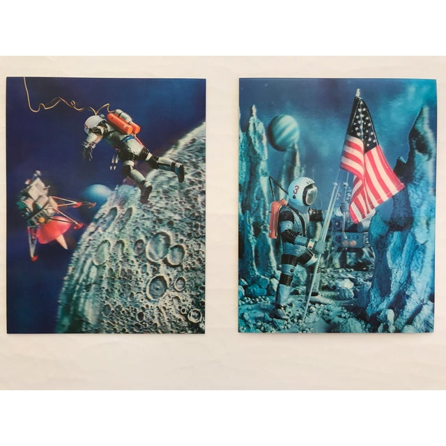Lenticular Animation Moon Landing Astronaut Prints From 1966 - Set of 4 For Sale - Image 10 of 12