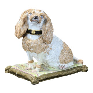 Early 19th Century Meissen Dog For Sale