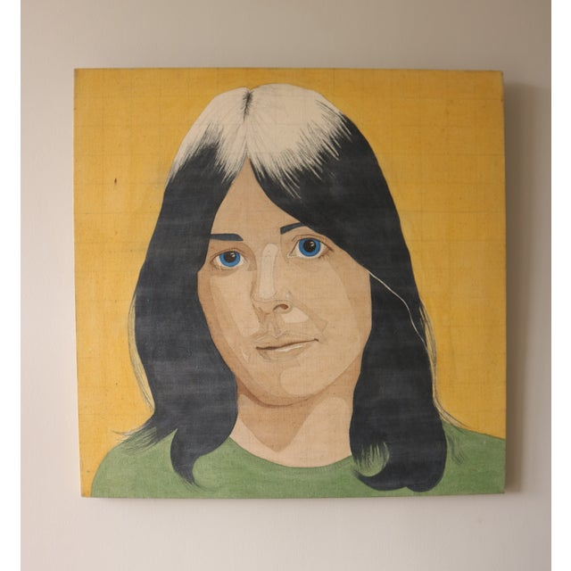 Portrait of a Woman in the Style of Alex Katz - Image 3 of 7