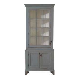 Benchmade Primitive Paint Decorated Corner Cabinet For Sale