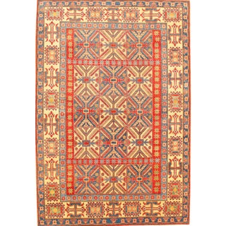 "Pasargad N Y Hand-Knotted Kazak Rug - 7'2"" X 10'7"" For Sale"