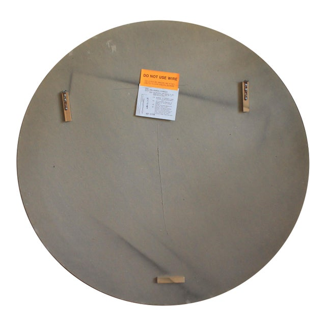 Art Deco Style Round Wall Mirror For Sale - Image 4 of 7
