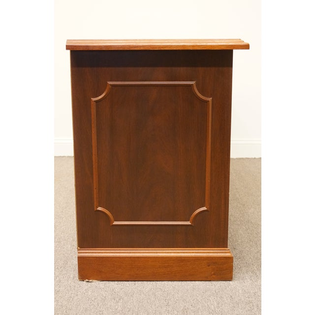 20th Century Traditional Miller Desk Solid Cherry Executive Office Credenza For Sale - Image 12 of 13