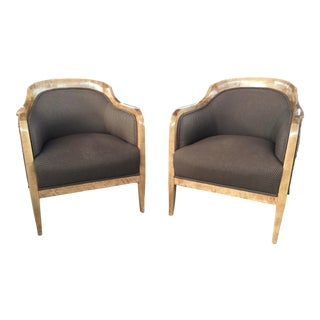Neoclassical Bergeres a Pair For Sale