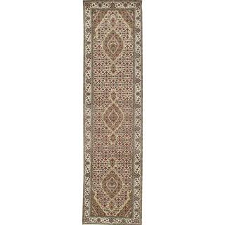 "Pasargad Ny Bidjar Mahi Design Hand-Knotted Runner Rug - 2'8"" X 19'3"" For Sale"