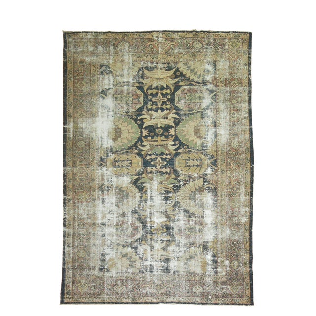 Distressed Persian Sultanabad Rug - 8'7'' x 11'9'' - Image 1 of 10