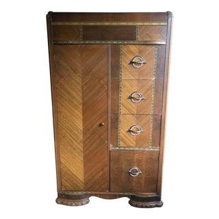 Art Deco Chifforobe Gentlemen's Closet For Sale