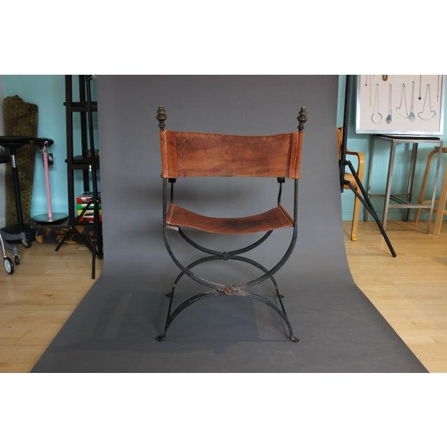 1950s Vintage Italian Renaissance Savonarola Chair For Sale - Image 4 of 13