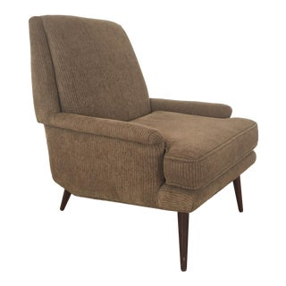 Modernist Upholstered Low Lounge Armchair