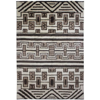 """Aara Rugs Inc. Hand Knotted Navajo Style Rug - 12'6"""" X 9'11"""" For Sale"""