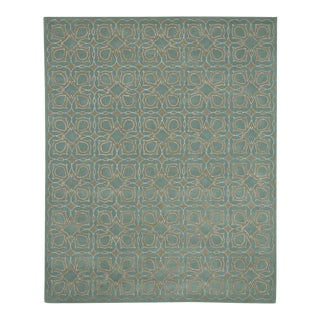 Green Geometric Mortini Rug - 5' x 8' For Sale