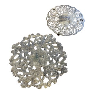 Silver-Plated English Style Trivets** - Set of 2 For Sale