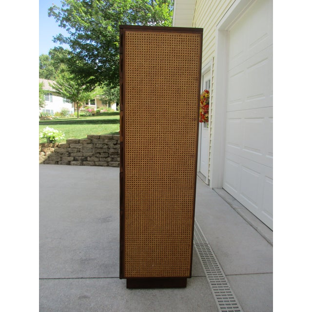 Mid-Century Modern Cane Front Eight Drawer Dresser by Directional For Sale - Image 3 of 12