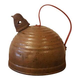 1960s Americana Copper Bird Spout Teapot For Sale