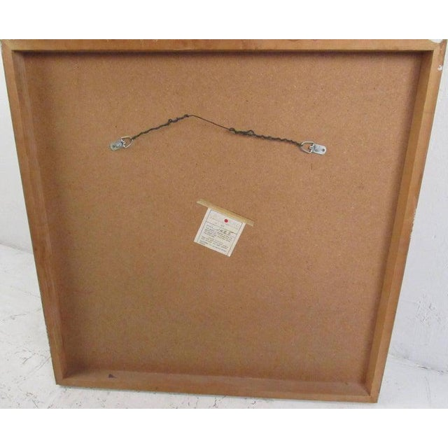 Mid-Century Modern Vintage Modern Burlwood Mirror in the Style of Milo Baughman For Sale - Image 3 of 11