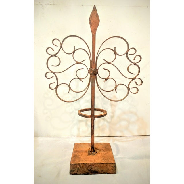 Gothic Wrought Iron Candle Holder - Image 3 of 7