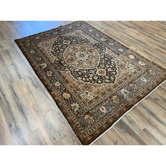 Stunning Persian Hajijalili is pouring over with eye catching detail. The classic Hajijalili color palate is both bold and...