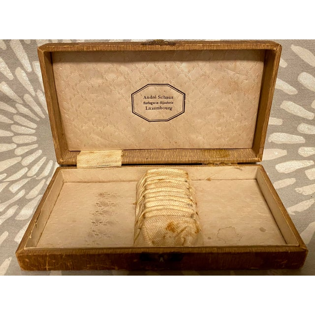 1890s Antique Societe Francaise d'Alliages Et De Metaux Spoon Set With Box - Set of 6 For Sale - Image 4 of 10