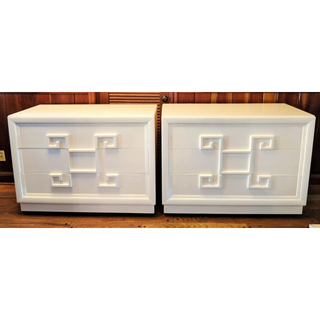 Kittinger Mandarin Greek Key Chests of Drawers - a Pair For Sale - Image 13 of 13