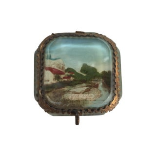 Antique Alsatian Souvenir Ring Box