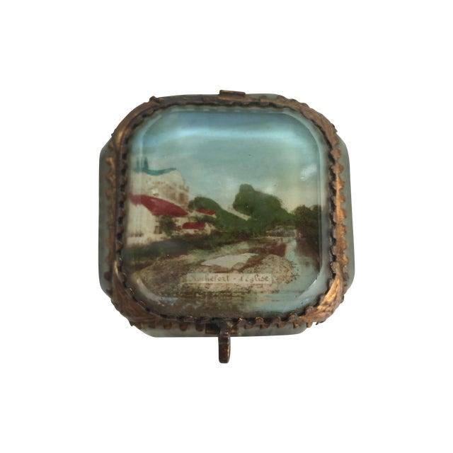 Antique Alsatian Souvenir Ring Box For Sale