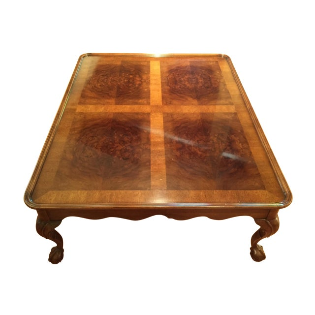 Chippendale Style Henredon Mahogany Coffee Table - Image 1 of 9