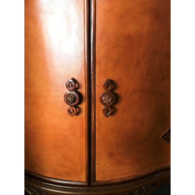 Late 20th Century Corner Cabinet With Iron Doors For Sale - Image 4 of 13