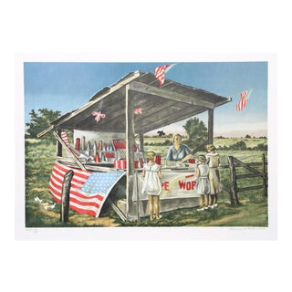 Clarence Holbrook Carter, Outside the Limits (Fireworks Stand), Lithograph For Sale