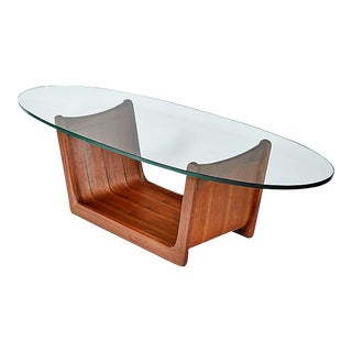 Adrian Pearsall Oval Glass Coffee Table