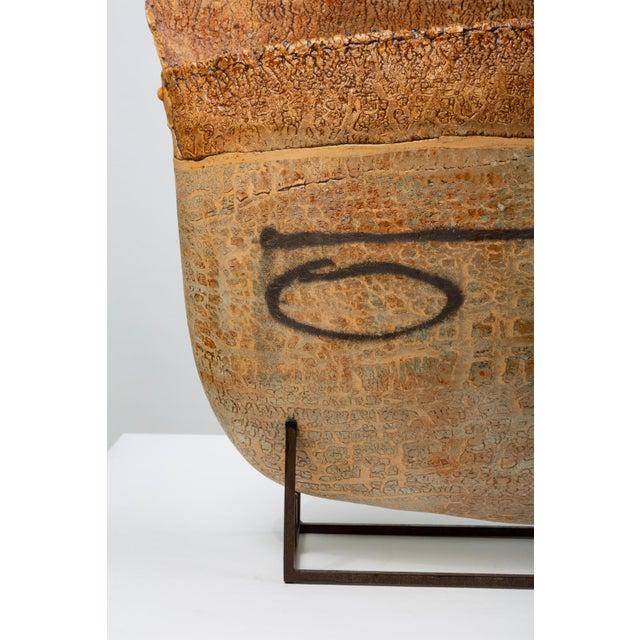 Black Ceramic Art Vessel With Mount by Jim Kraft For Sale - Image 8 of 12