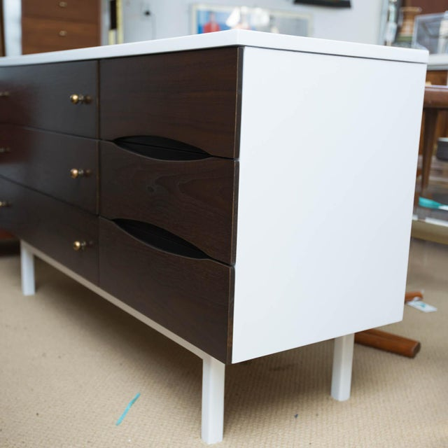 Stanley Furniture Stanley Furniture Mid-Century Modern Lacquered Low Dresser For Sale - Image 4 of 7