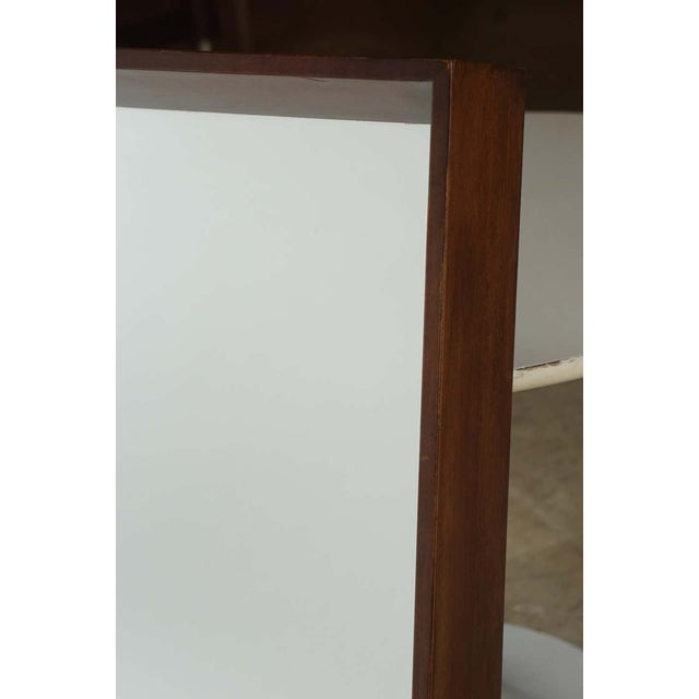 Gilbert Rohde for Herman Miller Square Heavy Walnut Frame 1940s Wall Mirror For Sale In New York - Image 6 of 10