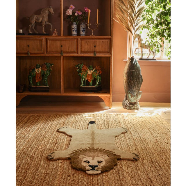 Not Yet Made - Made To Order Doing Goods Moody Lion Rug Large For Sale - Image 5 of 6