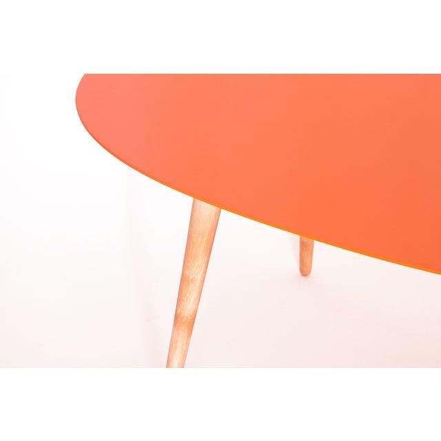 Large Egg Table - Orange - Image 3 of 3