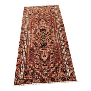 "Vintage Persian Zanjan Small Area Rug - 2'10"" x 5'7"""