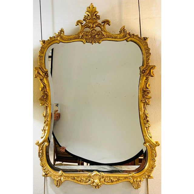 1960s Chippendale Fashioned Console Mirror by Friedman Bros For Sale - Image 5 of 11