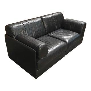 Vintage Mid Century De Sede Leather Sofa For Sale