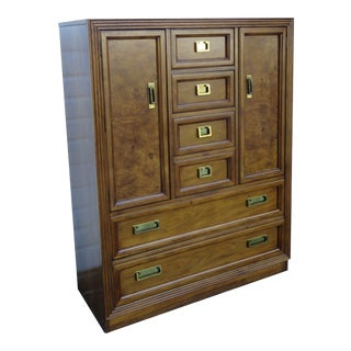 Hollywood Regency Tall Chest of Drawers Wardrobe by Thomasville For Sale