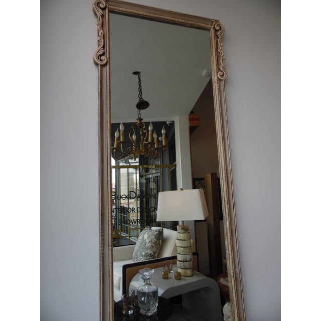 French Mid-Century French Style Hall Table & Mirror For Sale - Image 3 of 9