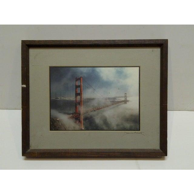 "Wood Framed Color Photograph ""The Golden Gate Bridge"" by Daniel Cole - Image 2 of 6"