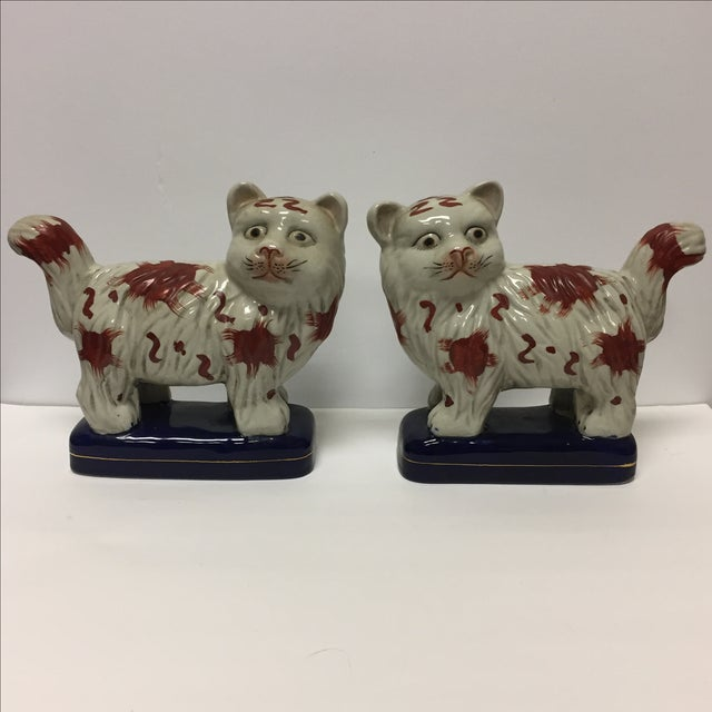 Staffordshire Cats - Pair - Image 2 of 6