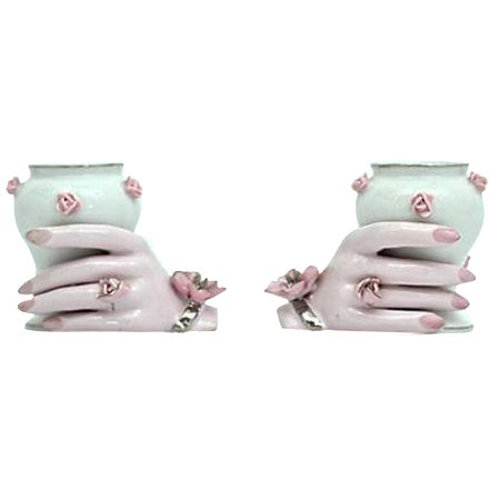 Holding Hands Vases - A Pair - Image 1 of 7