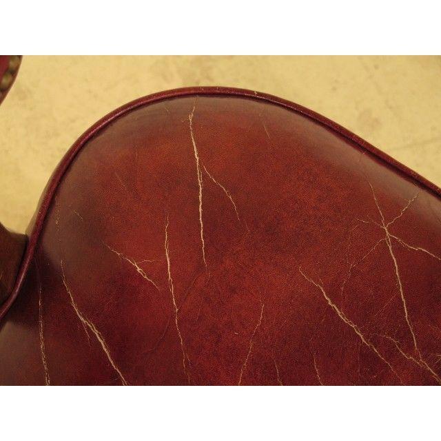 Stupendous Hickory Chair Co Chippendale Leather Smoking Chair Frankydiablos Diy Chair Ideas Frankydiabloscom